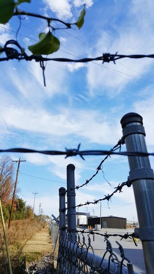 Barbed Wire Barbwire Wednesday Sky Blue Reflection Cloud - Sky Water Tree No People Outdoors Business Finance And Industry Nature Day