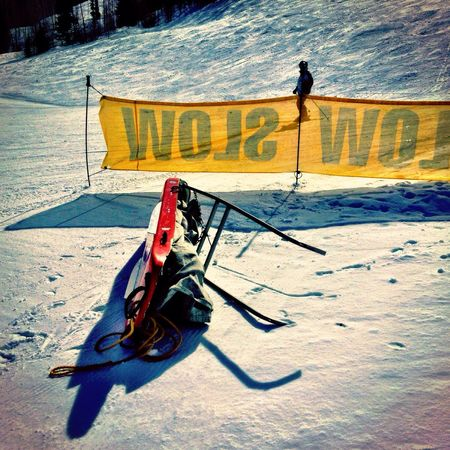 Slow Skier in Vail,co