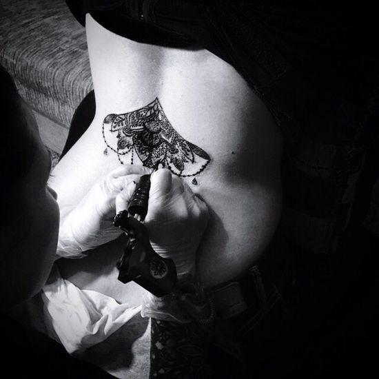 Tattooing Mandala Tattoo Blackandwhite Black