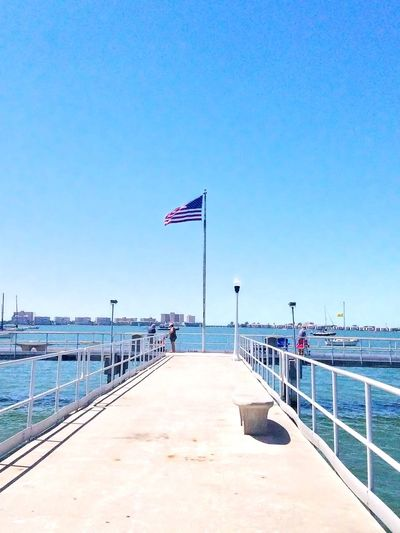 Flag Patriotism Sea Water Summer Blue Sky Vacations Clear Sky Beach Outdoors Day Travel Destinations No People Nature Sommergefühle