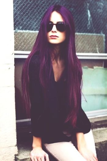 Photography Model Hair Purple