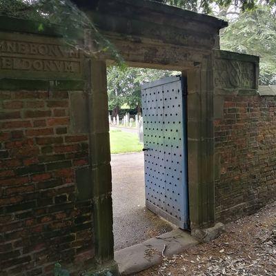 Door Built Structure Architecture Doorway No People Outdoors National Trust Sudbury Hall  Blue Gate Churchyard Graveyard
