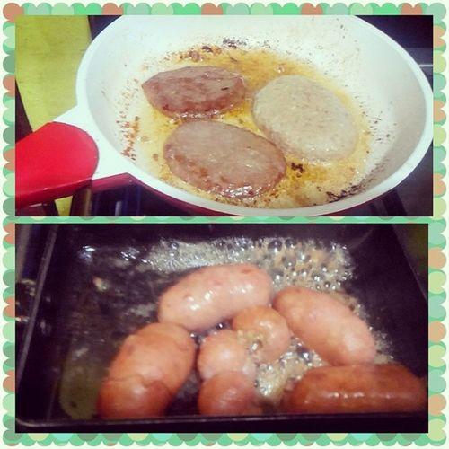 Making breakfast for my bugoyz! Breakfastmeal Sausagenpatties Lovinmylife