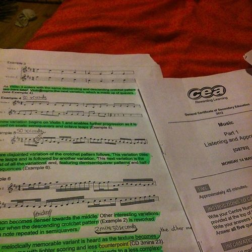 Never thought I'd have to be doing this again! Helping a sista out @eilismclaughlin Music Scorereading Exams Eugh bigsisterproblems