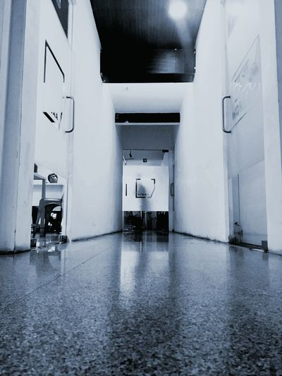 One point perspective Confined Space Corridor Indoors  No People Architecture
