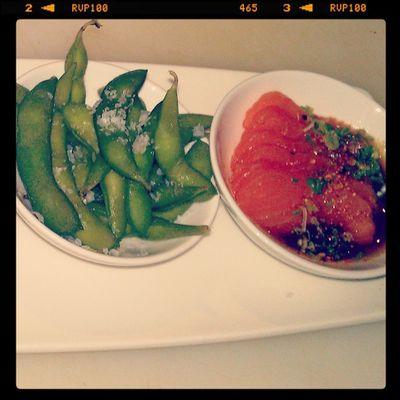Otoshi: Edame, Salmon Sashimi part 2 Kaisonsushi Antalya