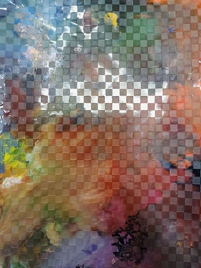 Abstract Multi Colored Backgrounds Brick Wall Pixelated Pattern Full Frame Architecture No People Painted Image Close-up Day Outdoors Colors Pallete Texture
