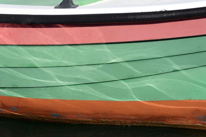 Close-up of boat moored