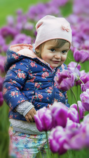 Babies Babygirl Color tulip Flower flowers