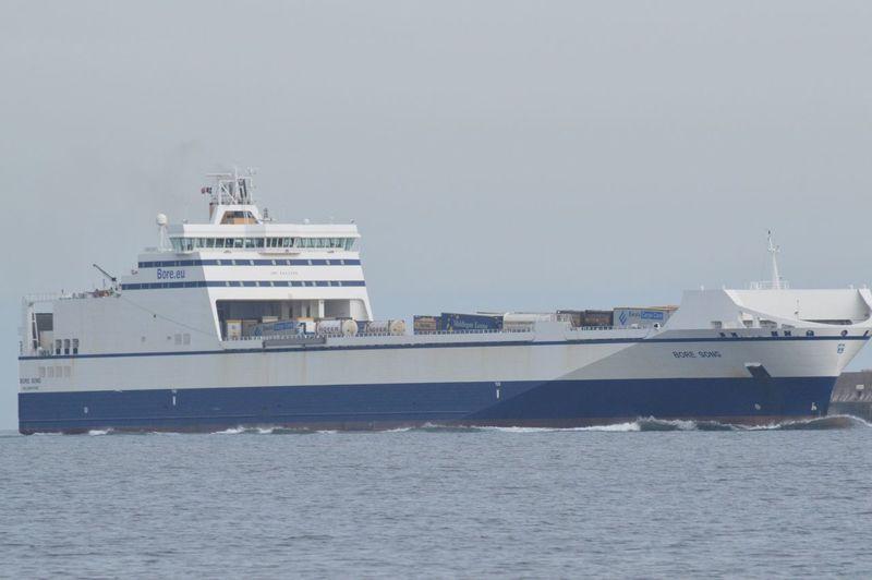 Finnish cargo arriving at Teesport Ships
