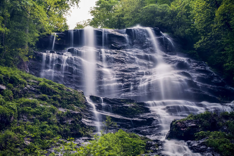 Amicalola Falls Beauty In Nature Blurred Motion Day Environment Falling Flowing Flowing Water Forest Growth Idyllic Long Exposure Lush Foliage Motion Nature No People Non-urban Scene Outdoors Plant Power In Nature Rock - Object Scenics Tranquil Scene Tree Water Waterfall