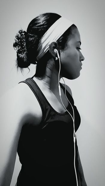 After workout Workout Fitness Earpods Black And White