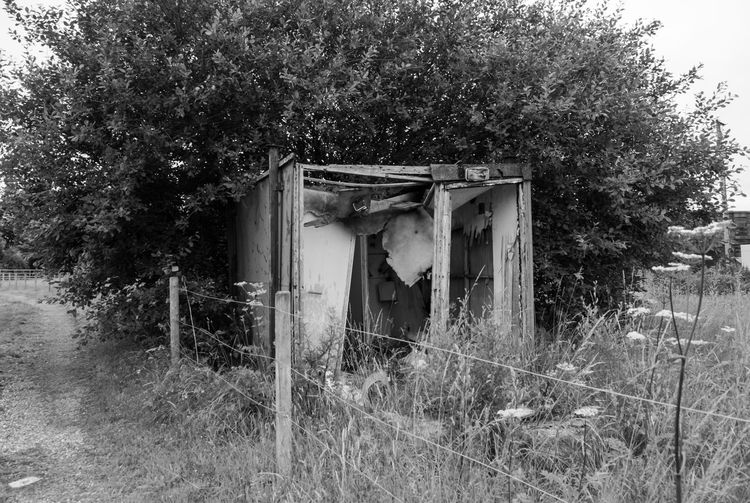 Abandoned Abandoned & Derelict Abandoned Buildings Abandoned Places Architecture Blackandwhite Built Structure Derelict Derelict & Abandoned Derelict Building Deterioration Field Grass Landscape Mono Monochromatic Monochrome Monochrome_life Monochrome_Monday Non-urban Scene Run-down Rundown Rural Scene Unused