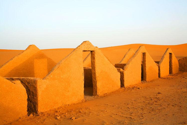 Built structure in desert