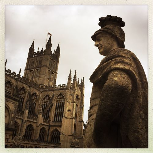 Bath Abbey Statue Sculpture Architecture Building Exterior Built Structure History Travel Destinations AMPt_community Iphone6plus IPhoneography Been There. EyeEm Best Shots Shootermag Mobilephotography Eyeem_philippines Eyeem Philippines Iphonephotography NEM Street NEM Submissions Been There.