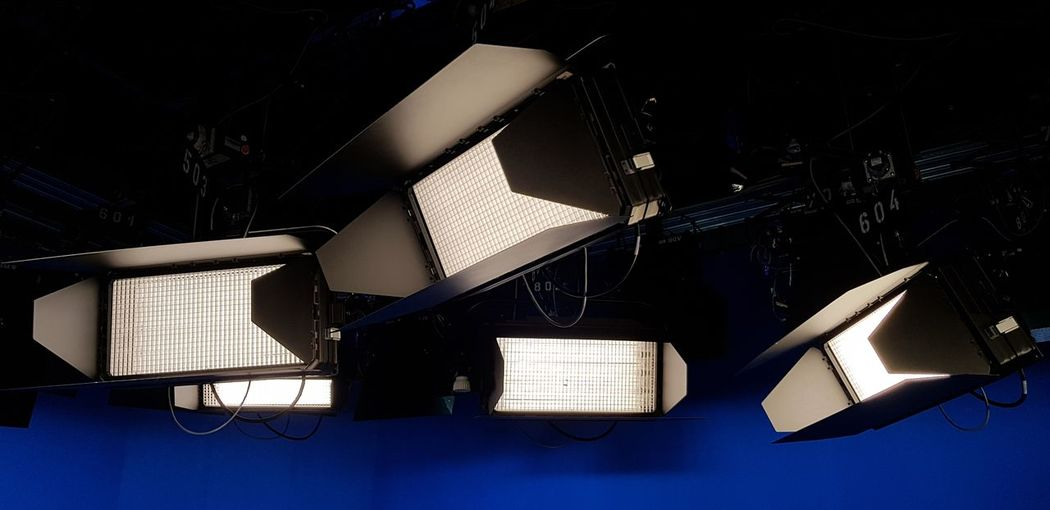 High angle view of illuminated electric lamp