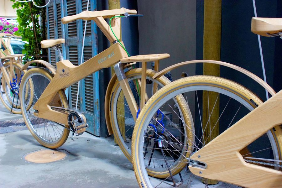 Day Land Vehicle Mode Of Transport No People Outdoors Rhodes Greece Wooden Bicycle
