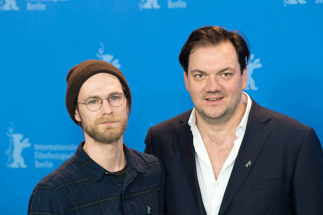 Berlin, Germany - February 19, 2018: German actors Robert Gwisdek and Charly Huebner pose at the '3 Days in Quiberon' (3 Tage in Quiberon) photo call during the 68th Berlinale Film Festival 2018 Actor Charly Huebner Charly Hübner Famous German Photocall Robert Gwisdek Berlinale Berlinale 2018 Berlinale Festival Berlinale2018 Berlinale68 Close-up Famous People Front View Headshot People Photo Call Popular Portrait Pose Posing Posing For The Camera Star Two People