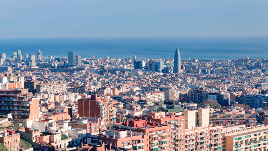 Barcelona, spain view from above picturesque sunset Building Exterior Architecture City Built Structure Cityscape Building Sky Residential District Crowd Crowded Skyscraper Office Building Exterior Nature Urban Skyline High Angle View Day City Life Tall - High Modern Outdoors Horizon Over Water Apartment Financial District  Barcelona, Spain View From Above