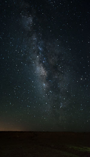 standing milky way panorama Milky Way Beauty In Nature Outdoors Panorama Remote Sky Stars Hidden Gems Lost In Space Star Field Space And Astronomy Infinity Astrology Globular Star Cluster Starry Space Exploration