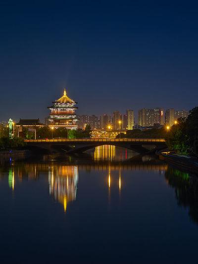賞心亭(2) City Night Sky Water Waterfront 南京 古建築 夜景 攝影 旅遊 秦淮河 賞心亭(2) 風景