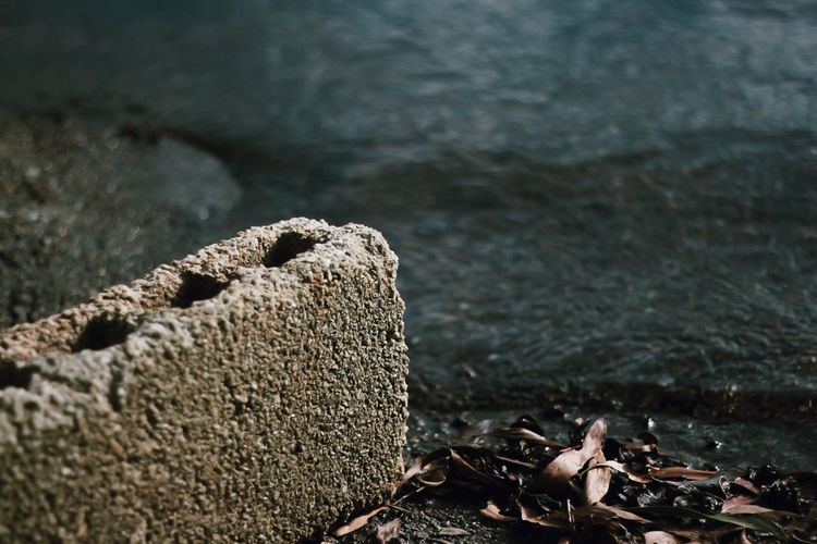 Pebbles on shore