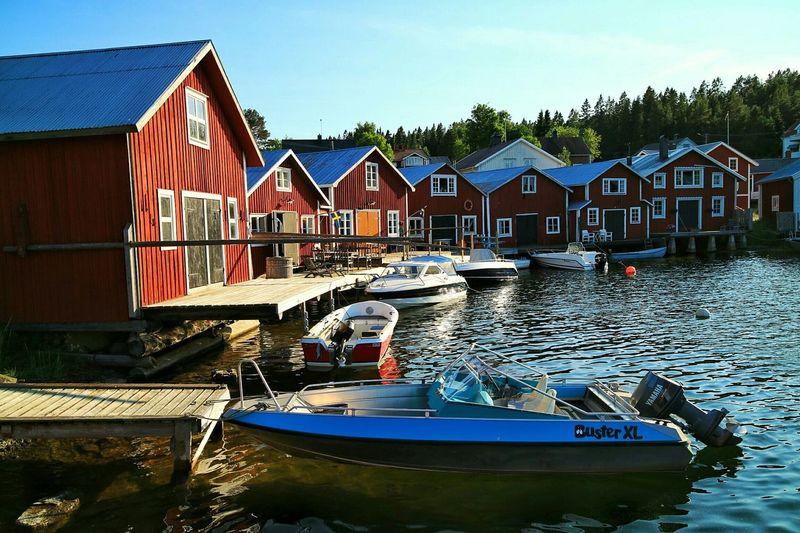 Boathouse Högakusten Landscape Sea Jetty at Bönhamn, Sweden