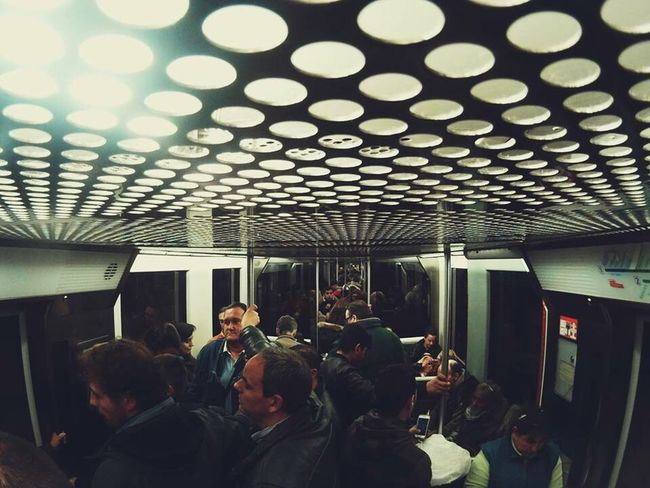 Real People Large Group Of People Transportation Public Transportation Travel Mode Of Transport Group Of People Lifestyles Subway Train Indoors  Passenger Journey Men Person Crowd Commuter People Day Metro Bilbao Metro Station Metro Train Train Station Bilbao Bilbaocentro Bilbaolovers