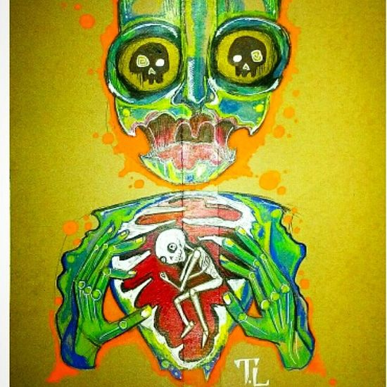 Graffiti Art Paint Sharpie Zombie Skulls Tattoo Ink Art My World .spraypaint In My Veins