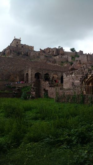 Outdoors Architecture Sky Nature Day Golcondafort Hyderabad Monuments Built Structure