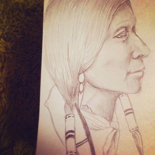 YohkoAmaterraArt My Art Work Art Drawing My Drawing Nature Earth Nativeamerican  Indian