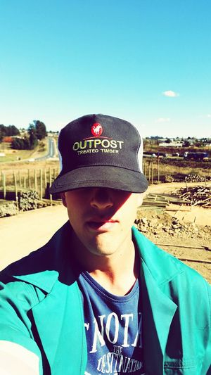 Hot Day Selfie ✌ High Way Sunny Day At Work Outpost Treated Timber South Africa Headwear The Week On EyeEm