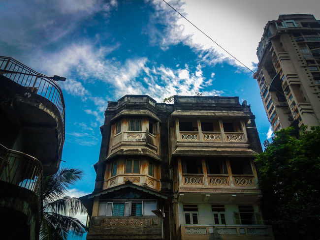 Low Angle View Architecture Built Structure Travel Destinations Sky Building Exterior Outdoors No People City Day Scenics Bluesky Beauty In Nature Front View Mumbai Nature Connected By Travel Lost In The Landscape Colors