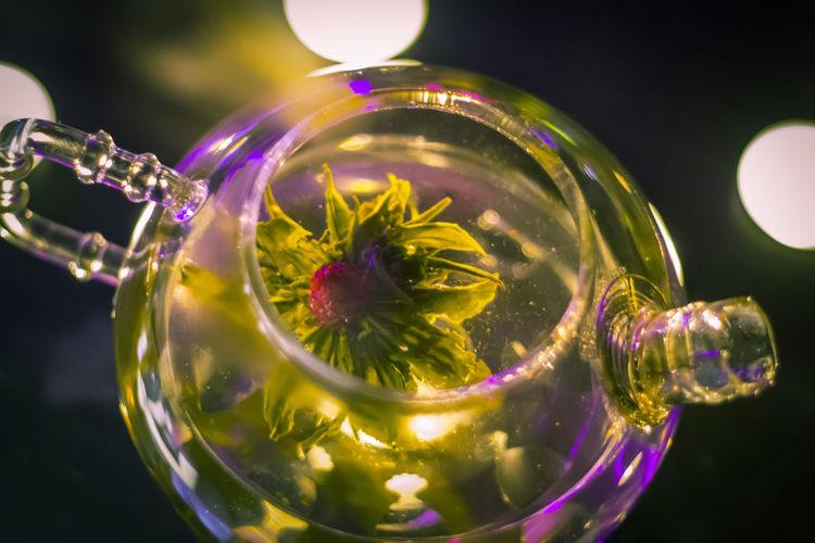 Tea Drinking Glass Drink Lights Tea Time Tea Cup Green Tea Plant