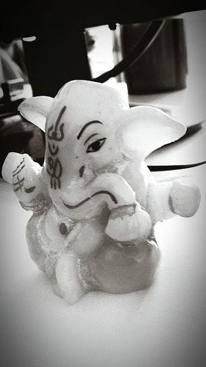 Ganapathy Ganapati Bappa Morya....! God Elephant ♥ Blackandwhitephotography Macro Focus