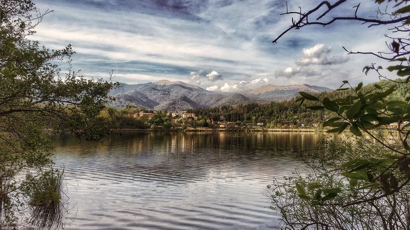 Lake Montorfano. Travel Outdoors Nature Mountain Lake Sky Water Beauty In Nature Tranquil Scene No People Day Cloud - Sky Mountain Range Reflection Scenics Landscape Idyllic IPhoneography Walking Around EyeEm Nature Lover Eye4photography  From My Point Of View in Brianza