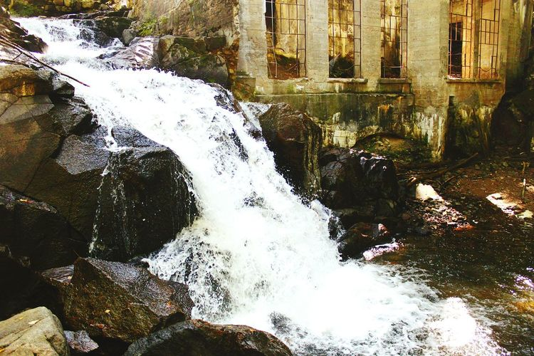 carbide Wilson Ruins spillway. Gatineau park Canada Water Waterfall Built Structure Architecture Building Exterior Splashing Flowing Water Outdoors Nature Rock Beauty In Nature No People Building Ruins BuildingPorn