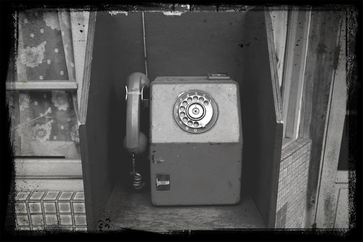 I miss you. Missyou Telephone B&w Black And White