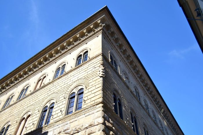Angolo Architecture Blue Building Building Exterior Built Structure Centrostorico City Cloud Day Exterior Façade Firenze High Section Italy Low Angle View Modern No People Outdoors Prospettive Sky Skyline Sunny Toscana Vista Dal Basso