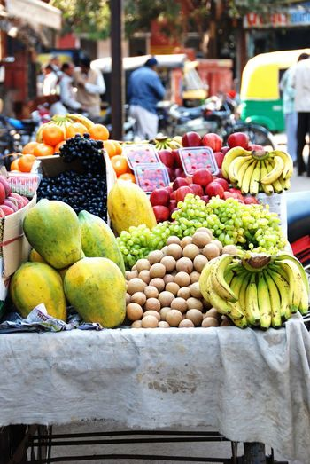Choice Day Food For Sale Freshness Fruit Healthy Eating India Local Life Market Market Stall No People Outdoors Retail  Street Vendors Variation Vegetable