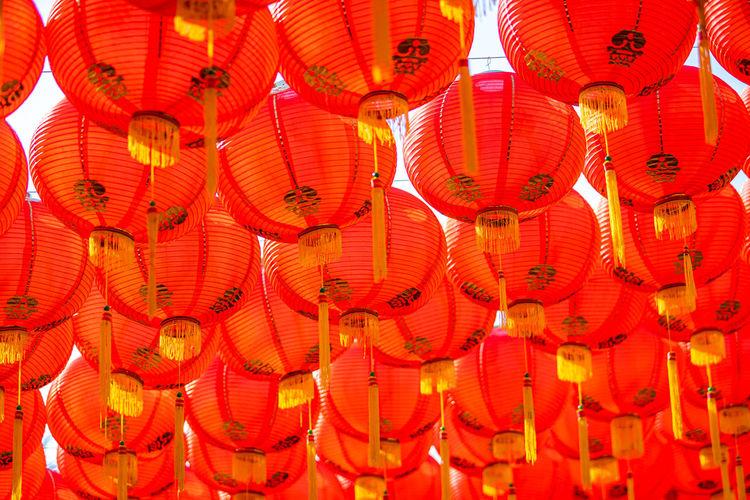 Full frame shot of illuminated lantern