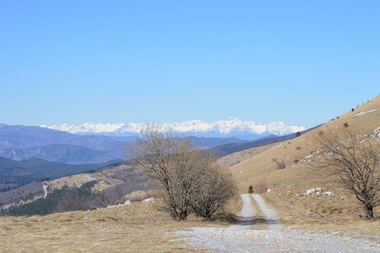 Blue Mountain Nature Sky No People Snow Krast Plateau Slovenia Nanos