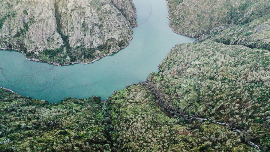 """Aerial view of view of canyon of """"Sil"""" river. Galicia, Spain. No People Nature High Angle View Tranquil Scene Scenics - Nature Outdoors Drone Photography Aerial View Aerial Landscape Top View Top Perspective Above DJI Mavic Pro DJI X Eyeem Directly Above Travel Destinations Tourist Attraction  Tourist Destination Nature Nature Photography Rural Scene Beauty In Nature River River View Water"""