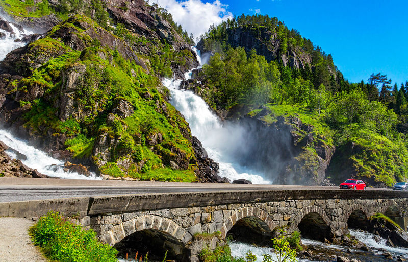 Waterfall, Norway. Location: Låtefoss, Odda. Landscape_Collection Nature Norge Norway Scandinavia Tourist Attraction  Bridge Landscape Norway Nature Norwegian Norwegian Landscape Odda Travel Destinations Water Waterfall