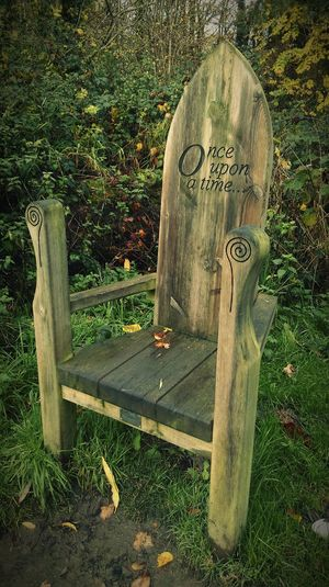 Once Upon A Time Once Upon A Time... Chair Chairs Empty Chair Wooden Chair Story Time Storytelling In The Park A Walk In The Park Fairytale  Fairytales