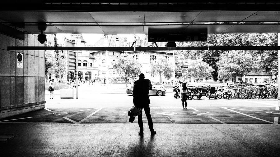 Full length of man in city