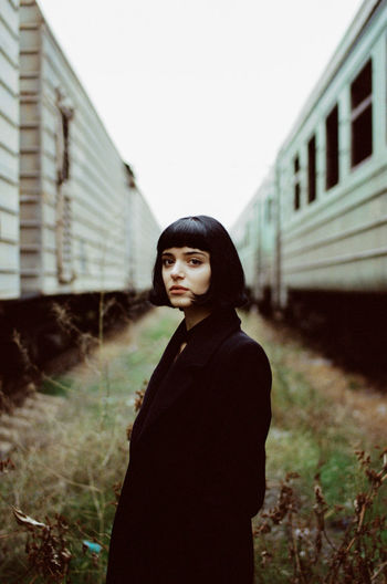 35mm film Analogue Photography 35mm Film Film Photography Portrait Young Women Fashion Spooky Ghetto Sky