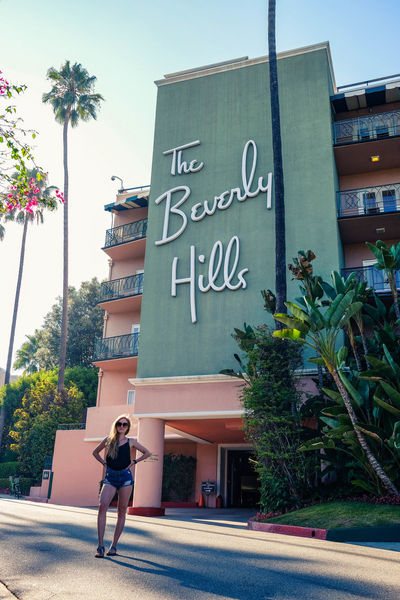 Beverly Hills Famous Place Beverly Hills Hotel Full Length Text Sky Luxury Hotel