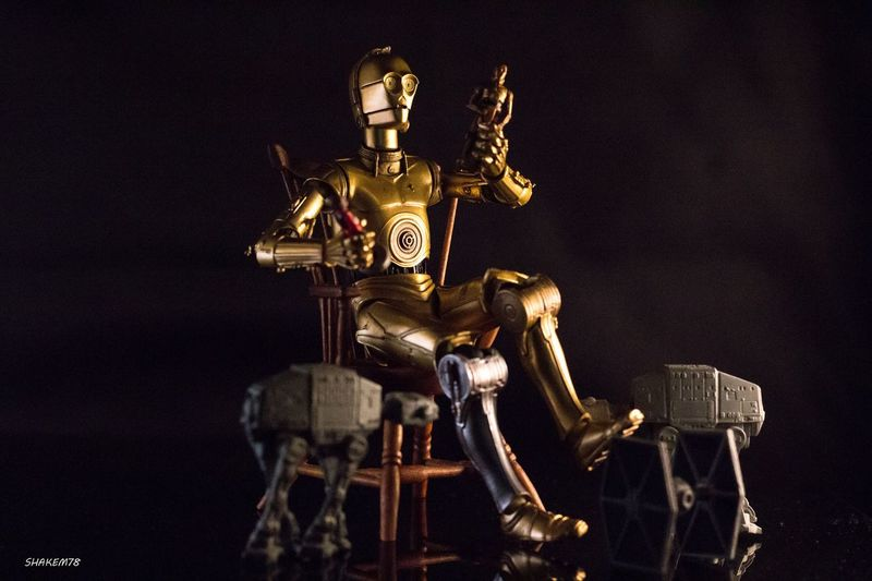 Oh my looks like you caught me playing with my toys. TheForceAwakens C3p0 Toyphotography Starwarstoys Photography Toyboners ATAT Micromachines Toyphotographer
