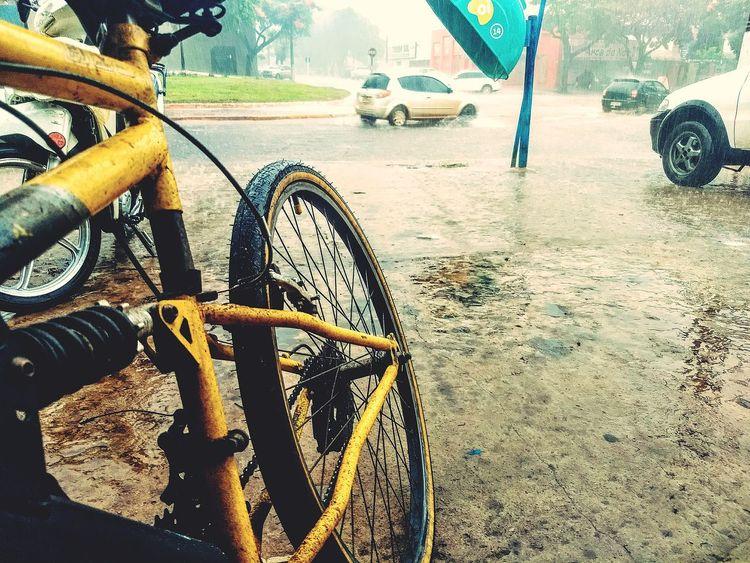 Chuva Cotidiana em Dourados Brasil Mato Grosso Do Sul Fotografia World Fotography Brasil ♥ Dourados Bicicleta Chuva Rain Foto Tempestade